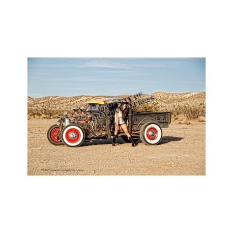 Rat Rod in Desert