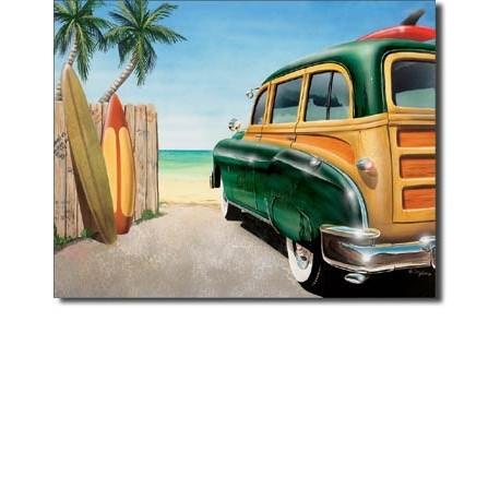 Retro Auto - Beach Woody